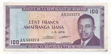 BURUNDI 100 FRANCS 1979 PICK 29 LOOK SCANS