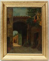 Eugenio Cecconi (Italian)  Antique 19c. oil painting on canvas, genre scene
