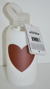 NWT bkr 500mL Little Smooth Winter Heart 16 fl oz White Water Bottle