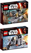 lot of 2 LEGO STAR WARS 2016 75131 75132 BATTLE PACKS Brand New in Boxes
