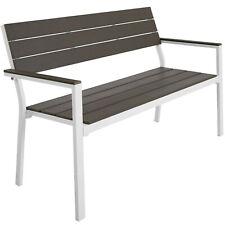 Banco de Jardín Asiento Robusto Exterior Porche Mueble Patio Terraza Aluminio