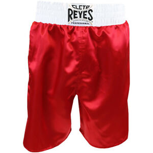 Cleto Reyes Satin Classic Boxing Trunks - Red/White