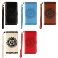 Mandala Wallet Leather Flip Case Cover For Samsung S5 S6 S7 S8 S9 A5 2016 Note 8