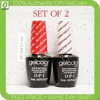 OPI GelColor Kit >SET OF 2 Any Soak Off Gel Nail Colour UV Led Lot - Ship in 24H