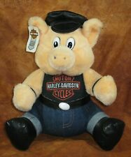 HARLEY DAVIDSON BIKER PLUSH HOG TOY 1993 PLAY-BY-PLAY NOVELTY SAN ANTONIO. TEXAS