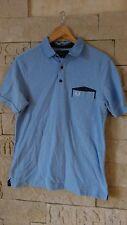 Fred Perry polo shirt Gr M slim fit hellblau perfekt neu