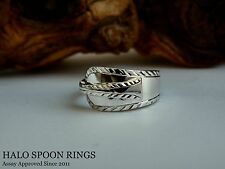 VERY PRETTY GEORGIAN SOLID SILVER SPOON RING  Circa 1760 FULLY ASSAY APPROVED