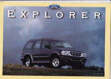 1996 FORD EXPLORER Australian 4p Brochure & Colour Chart