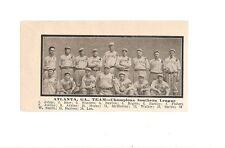 Atlanta Crackers 1909 Baseball Team Picture Southern Association