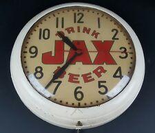Vintage Drink Jax Beer General Electric Wall Clock Man Cave Tested & Working