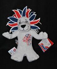 Peluche doudou mascotte officielle du team GB Londres 2012 lion 23 cm 100% NEUF