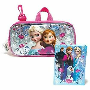 Frozen Elsa and Anna Journal & Pencil Case Free Bracelet-New w/tags