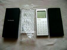 Brand New Thin Calculator Alarm Clock By Brookstone Silver