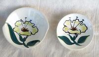 Blue Ridge Pottery Evening Flower Coupe Soup Bowl and Berry Bowl Vinatge