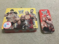 WWE Lunch Box Case Tin Pencil Case WWF The Rock John Cena CM Punk Licensed