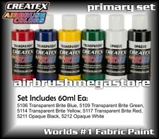 Createx Airbrush Colors 60ml Primary Set Importer Direct + Free Insured Post