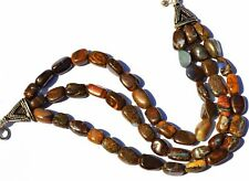 """Super Rare Natural Gem Boulder Australian Opal Smooth Nugget Beads Bracelet 7.5"""""""