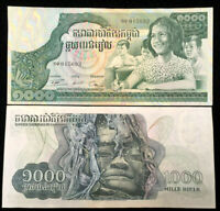 Cambodia 1000 Riels 1973 Banknote World Paper Money UNC Currency Bill Note
