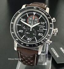 Citizen Eco-Drive Men's 100m Chronograph Watch CA0641-24E Brand New