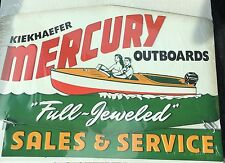 BOATING OUTBOARD METAL SIGN MOTOR SALES SERVICE VINTAGE LOOKING