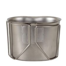 Rothco military style stainless steel replica double handle 1 quart canteen cup