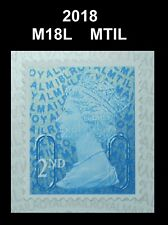 2018 - 2nd - M18L - MTIL  Single Stamp from Booklet on SBP2u Paper