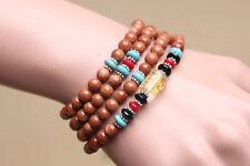 "Tibet Buddhist 108 Gold Sandstone 6mm prayer beads ""Om mani padme hum"" Bracelet"
