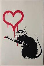 BANKSY -  LOVE RAT -  SCREEN PRINT