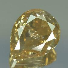 1.12cts 100%Natural Greenish Yellow Color Untreated Diamond 7.76 x 6.18 x 3.24mm