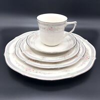 Noritake Ivory China Rothschild 5 Piece Place Setting 7293 (3 Plates Saucer Cup)
