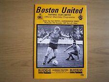 BOSTON UNITED v GAINSBOROUGH TRINITY Lincs Senior Cup Final Nov 1987