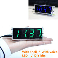 LED DIY Digital Clock Kit with Shell with Voice 51 Single-Chip Tube Electronics