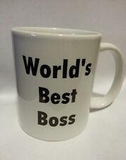 Worlds Best Boss Husband Wife Mug 11 oz