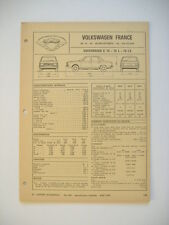 fiche technique  L'EXPERT AUTOMOBILE -  VW K 70 -70 L-70 LS