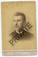 Cabinet Photo - Kalamazoo, Michigan - Young Man With Moustache - NEWTON Family