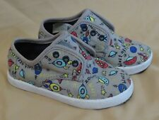 Baby Tom's Cordones Walking Shoes Gray with Rocket Ships Blast Off Size 8 8T