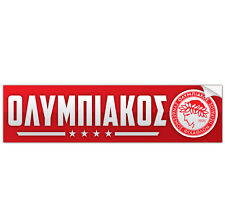 Olympiacos FC Greece Bumper Sticker Ολυμπιακός Athens Olympiakos