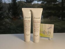 2 x FRESH Soy Face Cleanser - 20 ml / 0.6 oz Travel-Deluxe Sample Size NEW