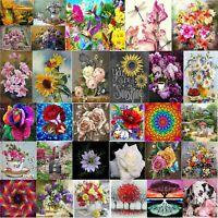 5D Flower Round Diamond Painting Craft Needlework Cross Stitch Set Rhinestone