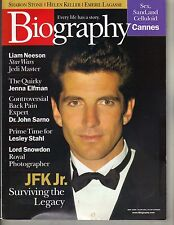 JOHN F KENNEDY JR CAROLYN BESSETTE Biography 5/99 LIAM NEESON SHARTON STONE PC