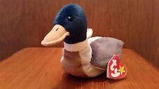Ty Beanie Baby Jake The Drake Mallard Duck 1997 with Errors