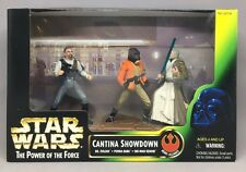 NEW STAR WARS Power of the Force CANTINA SHOWDOWN PLAYSET w/ 3 ACTION FIGURES