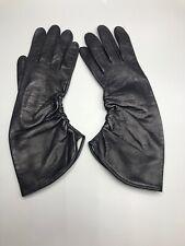 Vintage Ladies Dress Gloves Black Carlos Falchi Size 6 ½ Italy