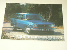 Prospectus PEUGEOT 504 Break  1973 brochure  prospekt catalogue car auto
