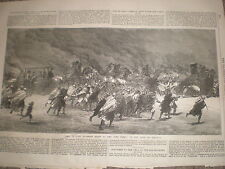 Visit of Lord Clarence Paget to the Suez Canal Egypt 1867 old print ref Y4