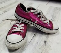 Converse Chuck Taylor All Star Purple Sequins Girl Youth Size 2   (b11)