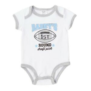 Baby Boy Football Draft Pick Bodysuit