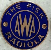 """1930s AWA CONSOLE BADGES"" Brand New factory precision scale ""CORRECT COLOUR """