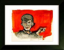 Original Drawing with Frame - David Bowie - Art by SLAZO - 16x20