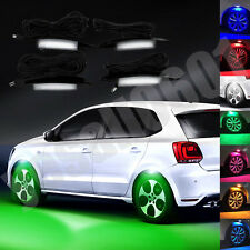 4x Green LED Car Wheel-Well Neon Glow Lights Fender Lamp Strobe Breathing 3 Mode